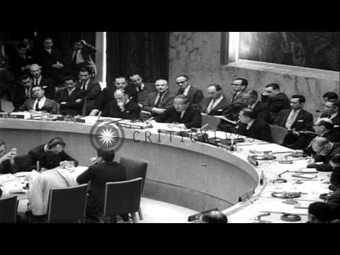 United Nations Security Council votes to send UN Peace Keeping Force in Cyprus at...HD Stock Footage