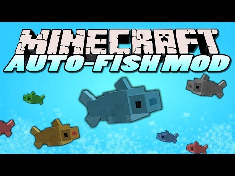 Minecraft Mods - Auto Fishing Mod - AFK FISHING?! (Minecraft Mod Showcase)