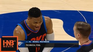 Russell Westbrook Gets Technical Foul / Thunder vs Sixers