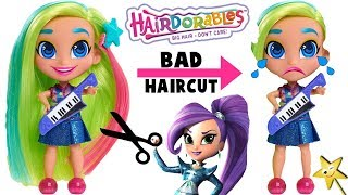 Hairdorables Get BAD HAIRCUTS at Sunny Day Salon | Fun Big Hair Dolls Unboxing