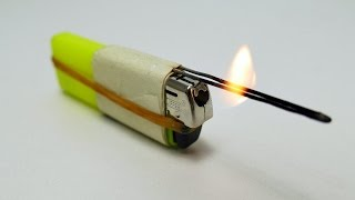 6 AMAZING TRICKS WITH LIGHTERS !!