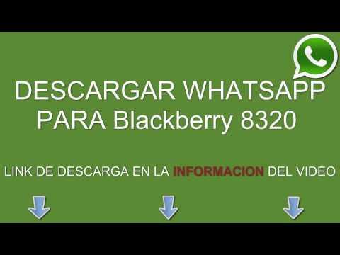 Descargar e instalar whatsapp para Blackberry 8320 gratis