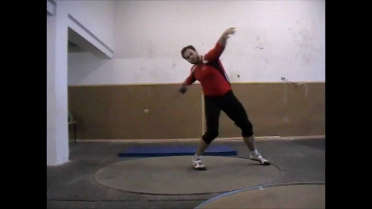 Discus throw technique
