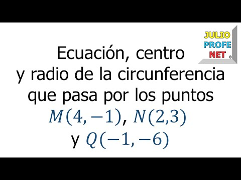 Circunferencia que pasa por tres puntos dados-Circle described through three given points