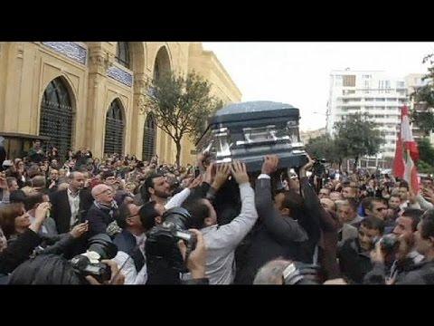جنازة احتفالية بهيجة للراحلة صباح الصغيرة في بيروت