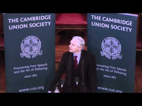 WikiLeaks - Julian Assange / Speaking at Cambridge Union [2011]