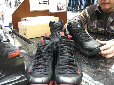 Nike Air Foamposite Cough Drops & Nike Air Max Posite Bakin' at Street Gear. Hempstead NY