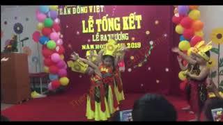 Bé múa bài CON CHÁU LẠC HỒNG trong lễ ra trường mầm non THẦN ĐỒNG VIỆT Nha Trang