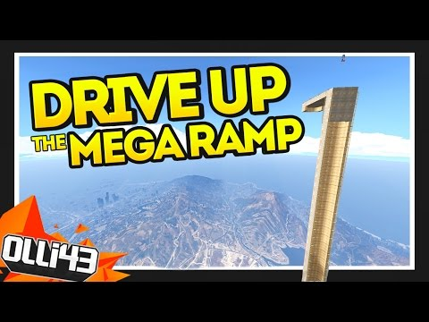 GTA 5 DRIVE UP THE MEGA RAMP!! (GTA 5 Mods Showcase)