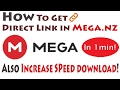 How To Get Direct Link in mega nz (1 minute)!