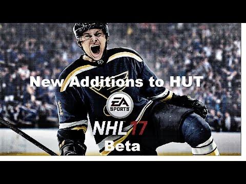 New Additions to HUT! NHL 17 Beta