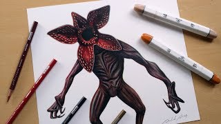 Speed Drawing: Demogorgon - Stranger Things