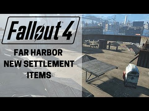Fallout 4: Far harbor New settlement Items (Audio Fixed)
