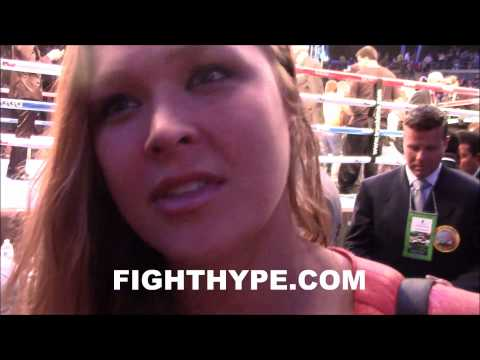 RONDA ROUSEY HOPES TO SEE GOLOVKIN FIGHT COTTO NEXT TOTALLY UNSTOPPABLEI BELIEVE IN GENNADY