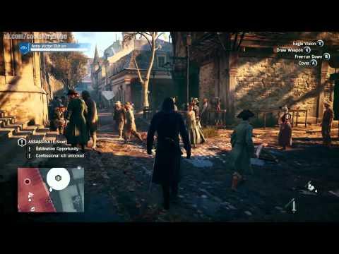 Игровой процесс Assassins's creed: Unity на русском