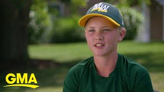 1st girl to play in the Little League World Series in 5 years takes center stage | GMA