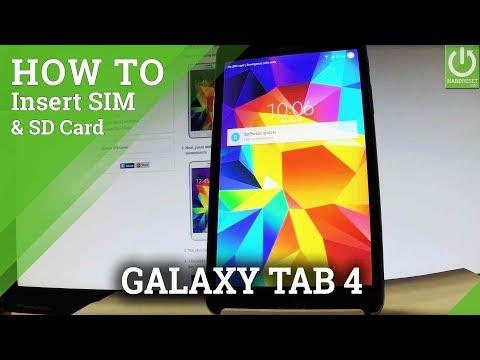 Insert SIM & SD in SAMSUNG Galaxy Tab 4 - Set Up SIM and SD Card