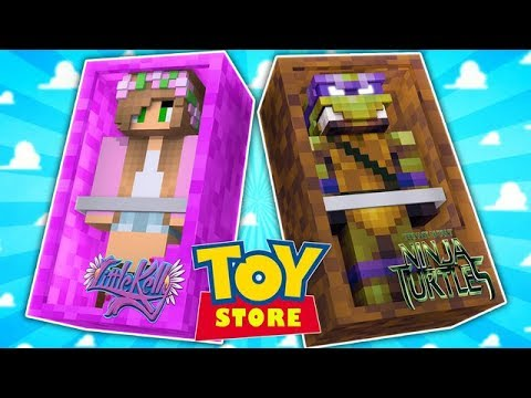 TEENAGE MUTANT NINJA TURTLES TAKE OVER THE TOYSTORE!! (Minecraft Toystore) w/Little Carly .
