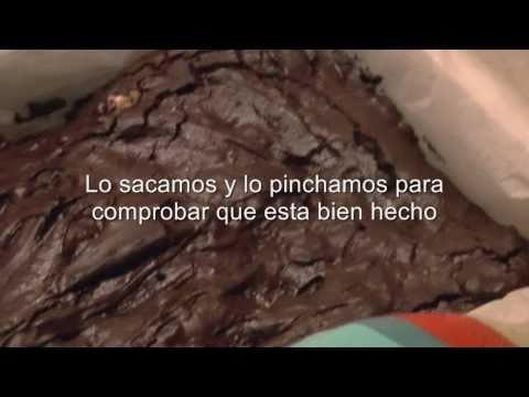 Brownie de chocolate con nueces casero- Recetas de postres faciles