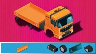 Trò chơi cho trẻ em - Xe tải, xe cẩu, xe chở bê tông - Puzzle Game 3D for Kid