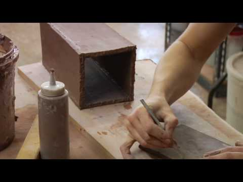 Clay Pottery Slab Building : Adding a Base to Clay Vase