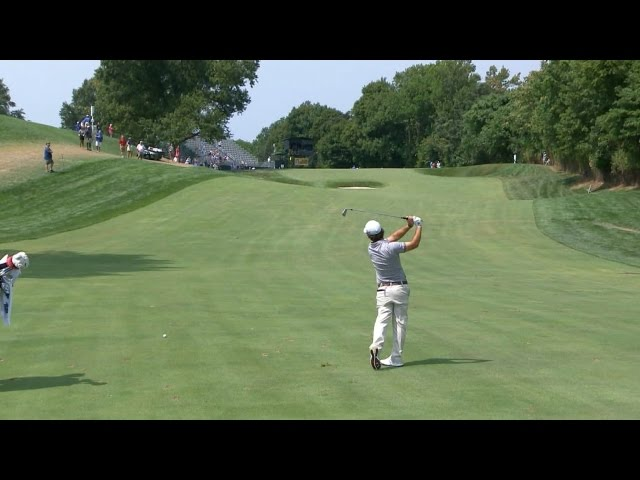 Brian Harman takes direct aim setting up kick-in birdie at The Barclays
