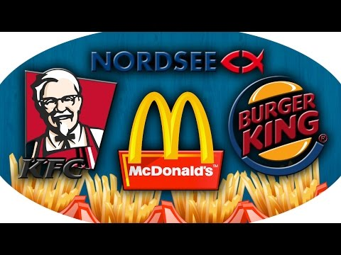 MC Donalds vs Burger King vs KFC vs Nordsee - Pommes Frites Test