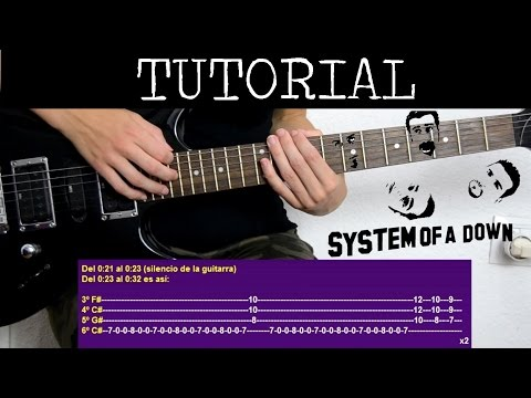 Cómo tocar B.Y.O.B de System Of A Down (Tutorial de Guitarra) / How to play