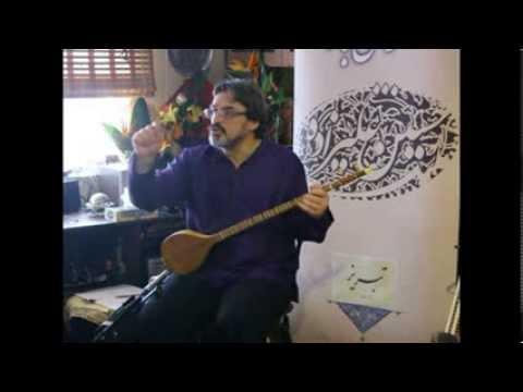 گوشه هایی ازآموزش سه تارتوسط استاد حسین علیزاده -Setar lesson by Maestro Hosein Alizadeh