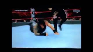 Wwe raw 12/09/2016 : kevin owens vs roman reigns (rusev interrupts the match)