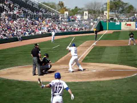 2010 Chicago Cubs Spring Training - Marlon Byrd's First at bat as a Cub