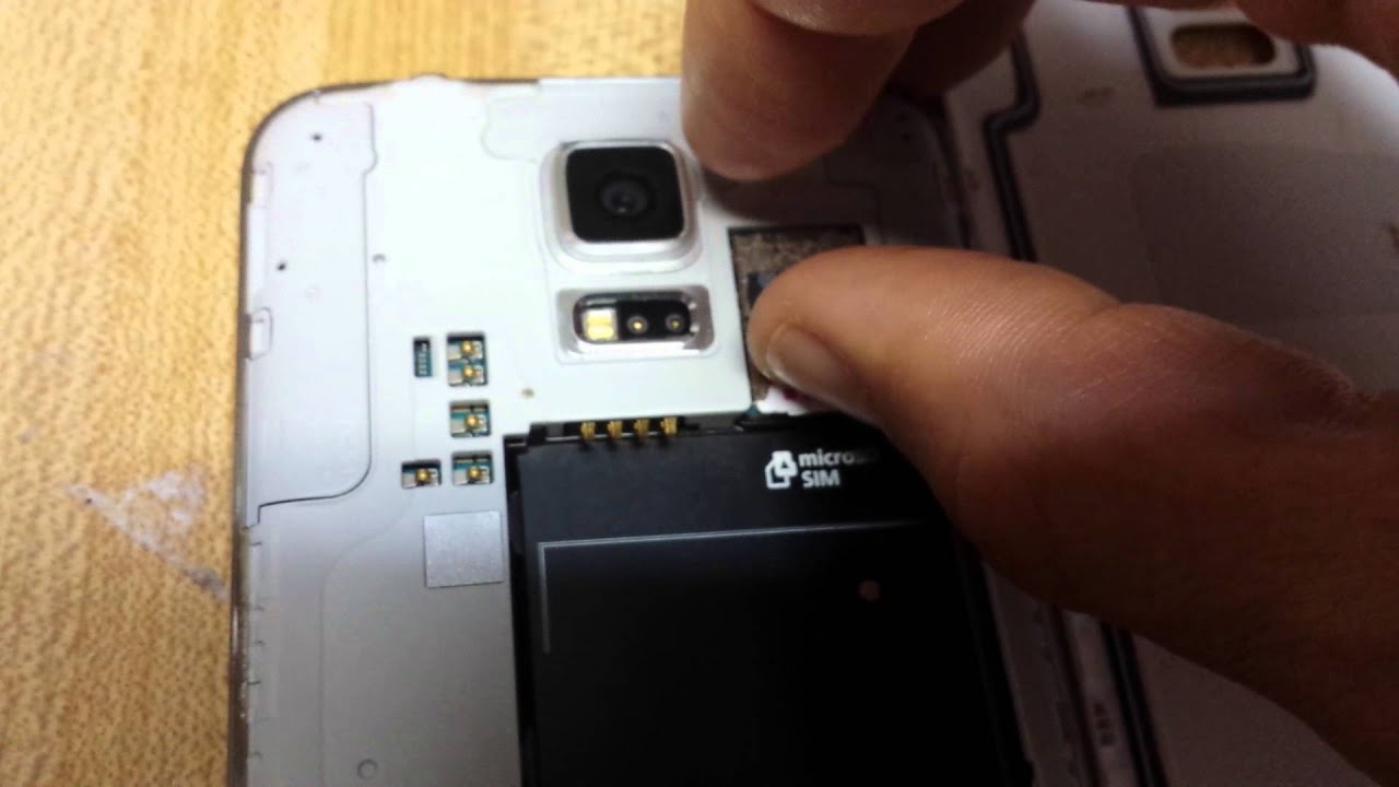 how to take out a sim card from galaxy s6