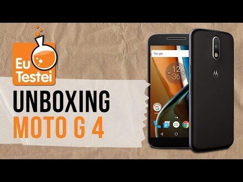 Trouxemos o Moto G 4 com TV digital, confere a caixa! – Unboxing EuTestei