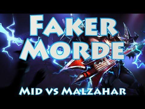 SKT T1 Faker, Mordekaiser vs Malzahar Mid