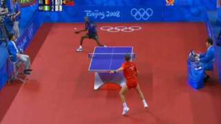 Jean-Michel Saive vs. Segun Toriola 2008 OG (highlights)