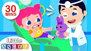 Baby Goes to the Dentist | 5 Little Puppies Peekaboo + More Fun Songs for Kids by Little Angel