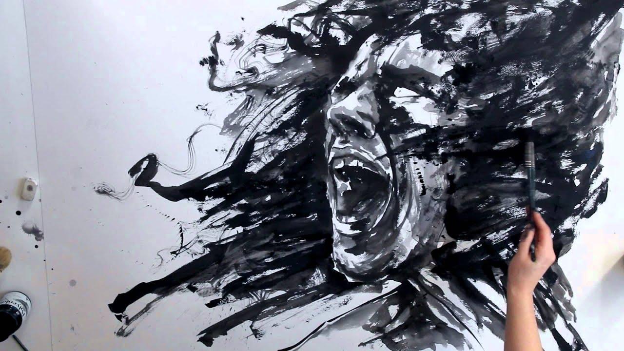 paint drip wallpaper