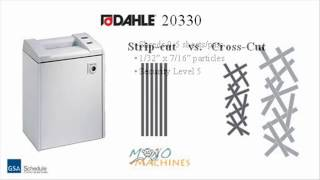 Dahle 20330 Cross Cut Paper Shredder - Tour