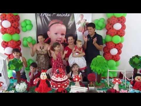 Decoração Joaninha - Aniversário de 1 Aninho da Giovana B. Brezolim.