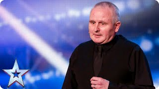 Comedian Bill Picton-Jenkins is (almost!) a laugh a minute...   Britain's Got Talent 2015