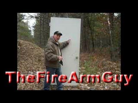 Shooting Different Ammo at Steel Front Door - TheFireArmGuy