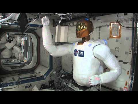 First Movement of Robonaut 2 on ISS
