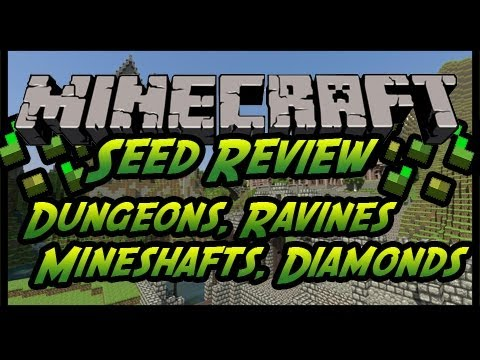 Minecraft - Seed Review 1.6/1.6.1/1.6.2 (40+ Diamonds, 2 Diamond Horse Armor, +m