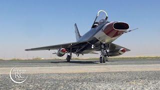 F-100 super sabre Jet at SkyHub Airfield Dubai