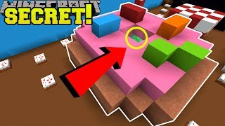 Minecraft: SECRET INSIDE THE DONUT!! - FIND THE BUTTON EMERALD - Custom Map  from PopularMMOs