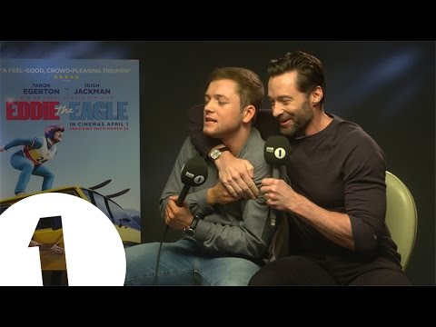 Hugh Jackman And Taron Egerton Play Initial Reaction