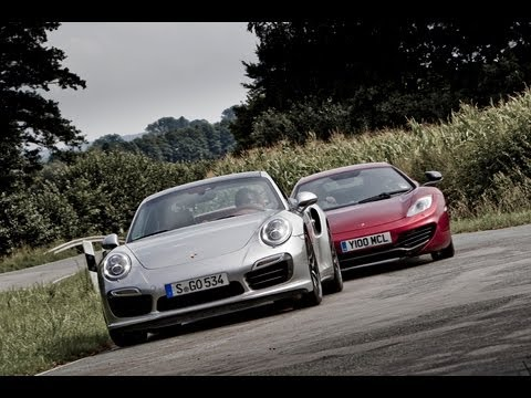Drag race: Porsche 911 Turbo S vs McLaren 12C - 0-60mph sprint