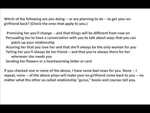 Love Letters To Get Your Ex Girlfriend Back