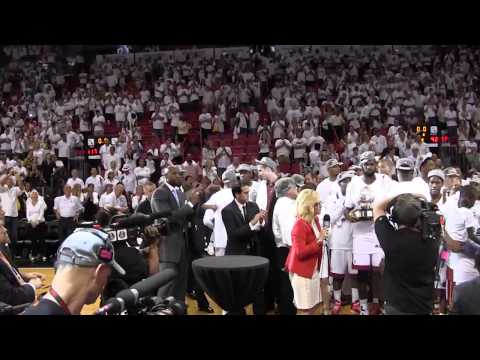 Miami Heat celebrates Eastern Conference title