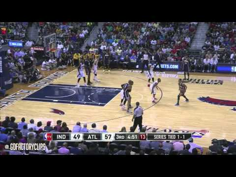 Jeff Teague Full Highlights vs Pacers 2014 Playoffs East R1G3 - 22 Pts, 10 Ast, SICK!